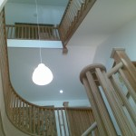 Cut string oak staircases - view from ground I