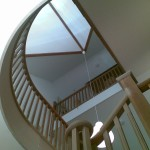 Cut-string oak staircases - view from ground II