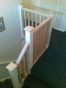 Newly fitted bannisters
