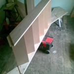 Assembling the straight flight section