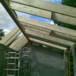 Openings for velux's and view of dual pitches