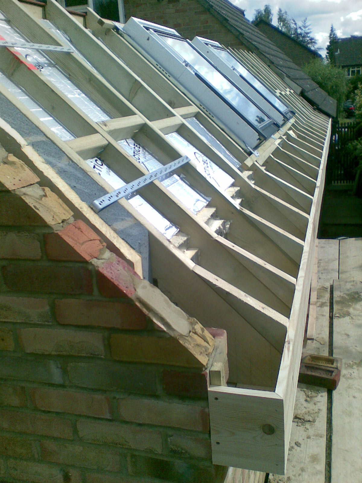Dual Pitched Gable Valley Roof Godalming 45 Degree