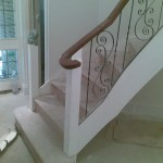 Original iron banisters to be removed