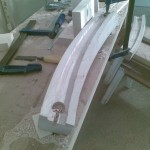Routing the spindle groove onto the underside of the handrail