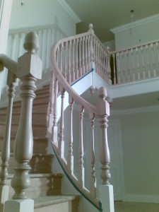 Continuous Spiral Handrail in Maple