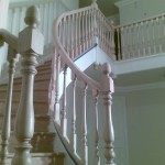 A huge improvement on the old iron banisters