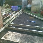 Multi level timber decking pirbright surrey for Decking framework timber