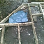 A plastic membrane covers the stump