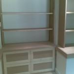 The completed filing cabinet, yet to be painted