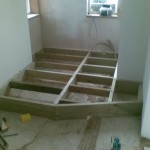 Building the stairwell platform