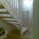 Winding section, handrail and spindles now fitted