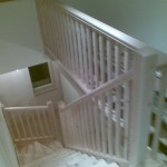 Winding section and first floor balustrade handrail and spindles now fitted