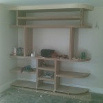 Shelving now completed, and softwood lipping is attached